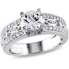 filigree engagement ring miabella 1 7 8 carat t g w white sapphire sterling silver