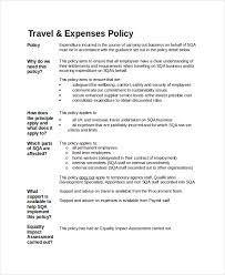 business travel policy template travel policy template 7 free word
