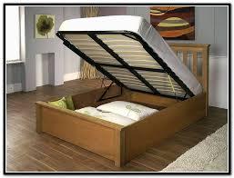 queen storage bed frame wood home design ideas