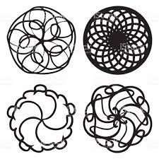 sacred geometry design set for indie music cover or tshirt print