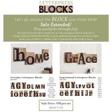 home decor on sale letterpress blocks for year round decor
