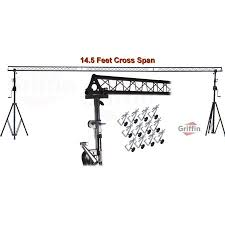 dj lighting truss package up triangle light truss system by griffin dj trussing stand for