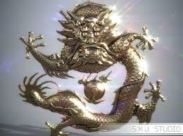 asian dragon 3d printable model cgtrader