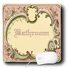 Vintage Bathroom Sign Buy 3drose Ht 60565 1 Victorian Pink Bathroom Sign Iron On Heat