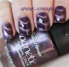 scrangie sally hansen magnetic nail color swatches and review