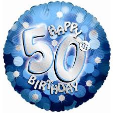 50th birthday balloons delivered blue sparkle party happy birthday 50th balloon delivered inflated