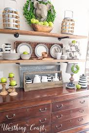 late summer farmhouse open kitchen shelves worthing court