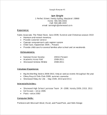 simple resume exle free resume template pdf 92 word excel pdf psd format 14