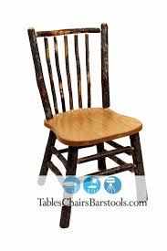 Restaurant Dining Chairs Amish Built Rustic Lodge Hickory Stick Dining Chair Bar