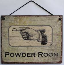 Powder Room Sign Bathroom Sign Powder Room Pointing Left Vintage Rustic Men S Women