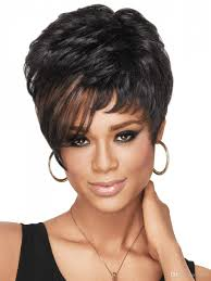 cheap cool exquisite womens hairstyle short straight black wigs