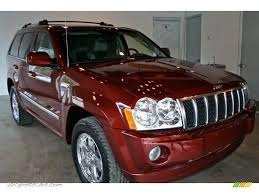 2007 jeep grand cherokee overland in red rock crystal pearl
