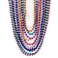beaded bead necklace images Metallic beaded necklaces 48 pc toys games jpg