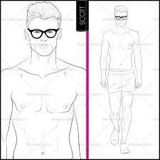 male runway croquis template scott u2013 illustrator stuff