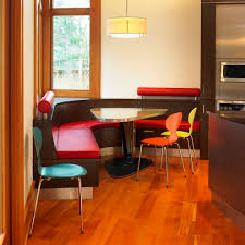corner banquette bench kitchen farmhouse with antique floor