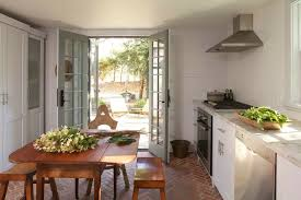 French Kitchen Sinks by Marvin Integrity French Door Kitchen Farmhouse With Brick Floor