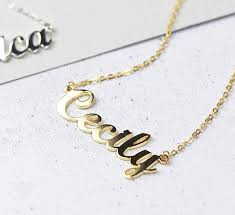 personalised name necklace custom gold name necklace personalised name necklace
