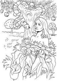 garden of eden coloring page tree of life and serpent 2 year