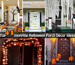 Halloween Outside Decorations 40 Cool Diy Decorating Suggestions For Christmas Front Porch