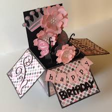 Box Birthday Cards Happy Birthday Pop Up Box Card Card In A Box Pinterest Happy