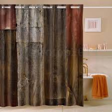 Polyester Shower Curtains Rustic Barn Wood Waterproof Polyester Shower Curtain 60x72