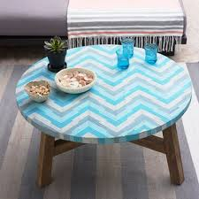 Aqua Glass Mosaic Tiled Coffee Table Everything Turquoise
