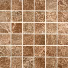 Marble Mosaic Tile Emperador Light Marble Tile 2 2 Polished Square Mosaic Tilestime Com