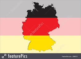 Germany Map by Outline Map Of Germany With Transparent German Flag In Background