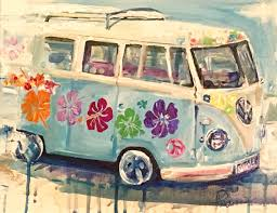 volkswagen bus painting commissioned artwork u2014 denise morencie