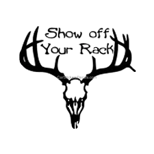 show off your rack deer skull sticker u0026 decal car stickers decals