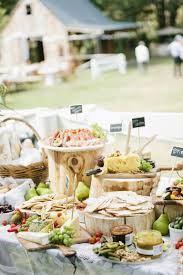 food tables at wedding reception rustic vintage wedding or event grazing table party food bar from