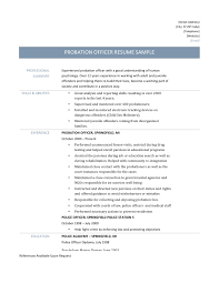 Court Reporter Resume Samples Probation Officer Resume Samples Tips And Templates