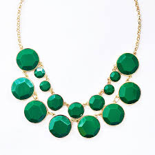 green fashion necklace images Bauble box bib double row collar necklace with emerald green beads jpg