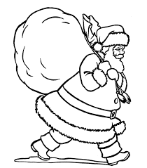 santa and gifts santa christmas coloring pages printable free