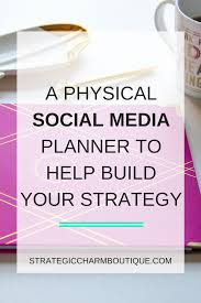 social media planner the content planner u2014 strategic charm