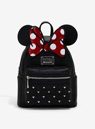 loungefly disney minnie mouse bow ears mini backpack boxlunch