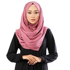 model jilbab segi empat simpel dan modis untuk sehari hari
