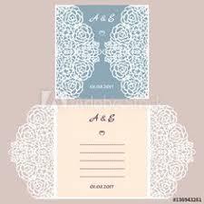 laser cut lace wedding invitation template 5x7 gate fold card