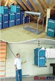 motorized storage lift for your garage garage loft storage solutions