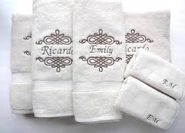Bathroom Gift Ideas Embroidered Towels For Wedding Gift Gallery Wedding Decoration Ideas