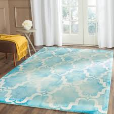 6 X 6 Area Rug Safavieh Dip Dye Turquoise Ivory 6 Ft X 9 Ft Area Rug Ddy536d 6