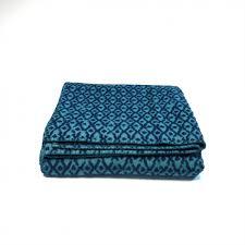 plaid turquoise pour canapé plaid en coton de couleur bleu canard plaid pour canapé