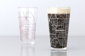 Indiana University Map Bloomington In Indiana University College Town Map Pint Glass
