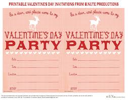 bnute productions free printable valentine u0027s day party invitation