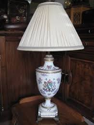 Antique Porcelain Table Lamps Vintage Stiffel Brass U0026 Porcelain Table Lamp 28