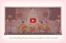 wedding planner websites wedding planner responsive wedding theme by freevision themeforest