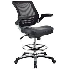amazon com modway edge drafting chair in vinyl reception