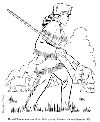Daniel Boone Coloring Page free printable daniel boone coloring pages 027