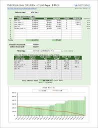 Excel Debt Payoff Template Debt Reduction Calculator Debt Snowball Calculator