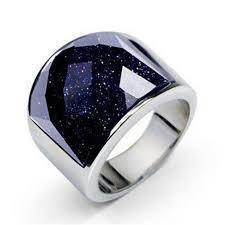 real stone rings images 2016 new fashion luxury purple natural stone rings for men 316l jpg
